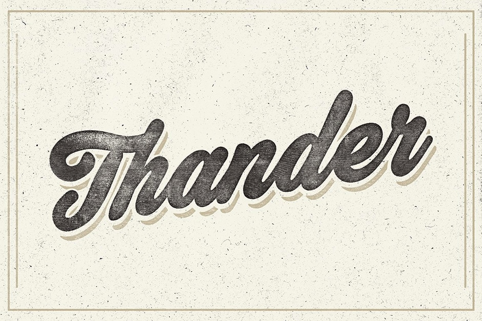 Thander First Image Calligraphy Font
