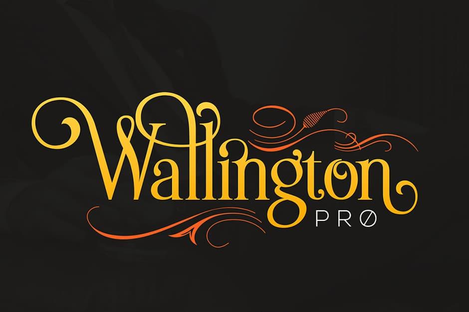 wallington-calligraphy font