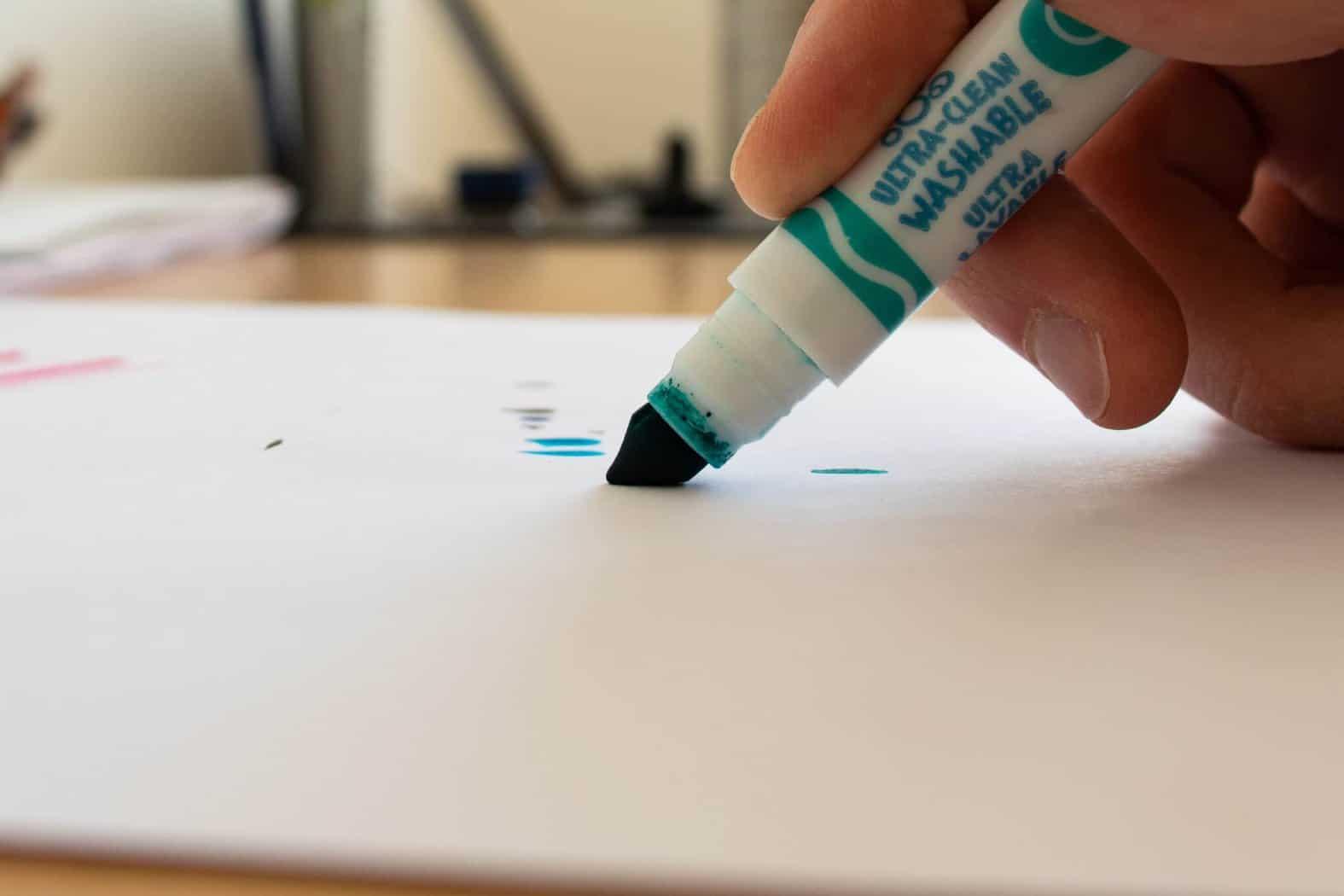 nib elasticity sample - Crayola Marker