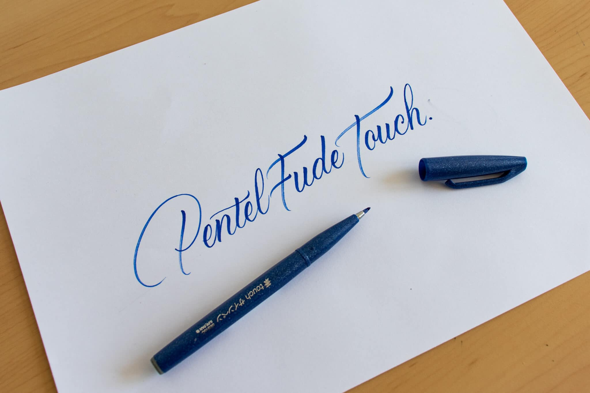 Pentel Fude Touch Sign Pen - sample calligraphy