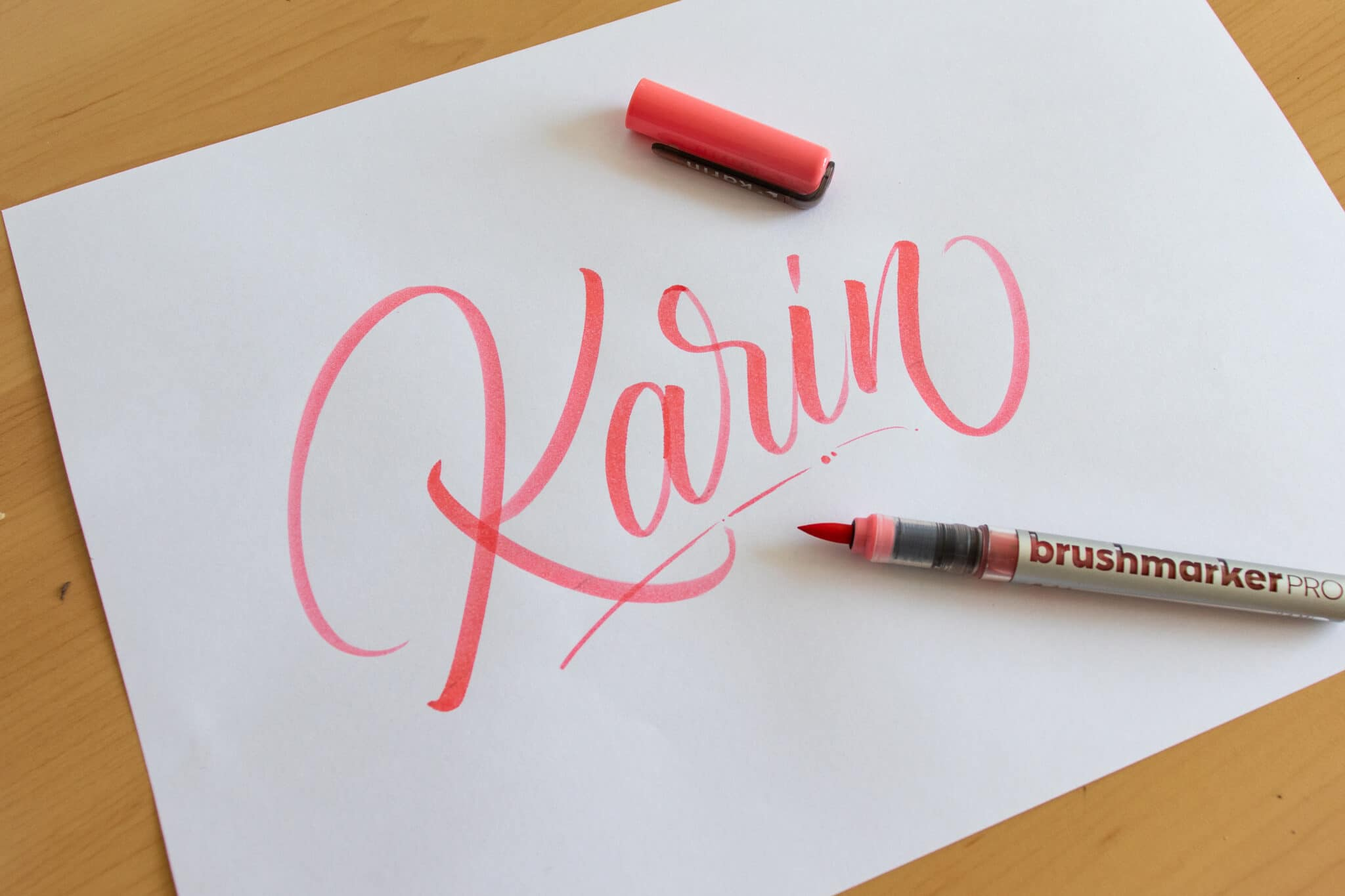 Karin Brushmarker PRO - sample calligraphy