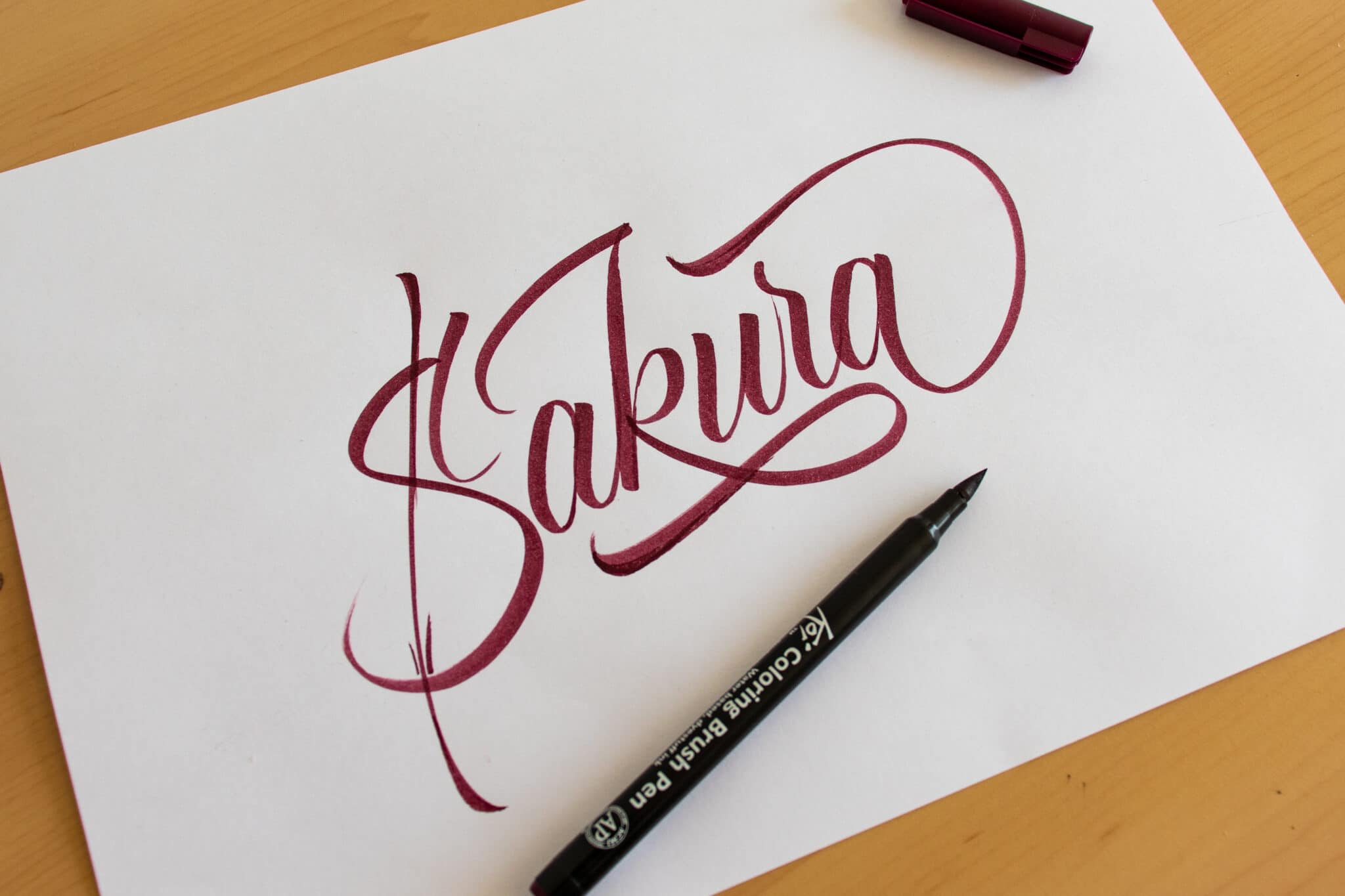 Sakura Koi Brush Pen - Sample calligraphy