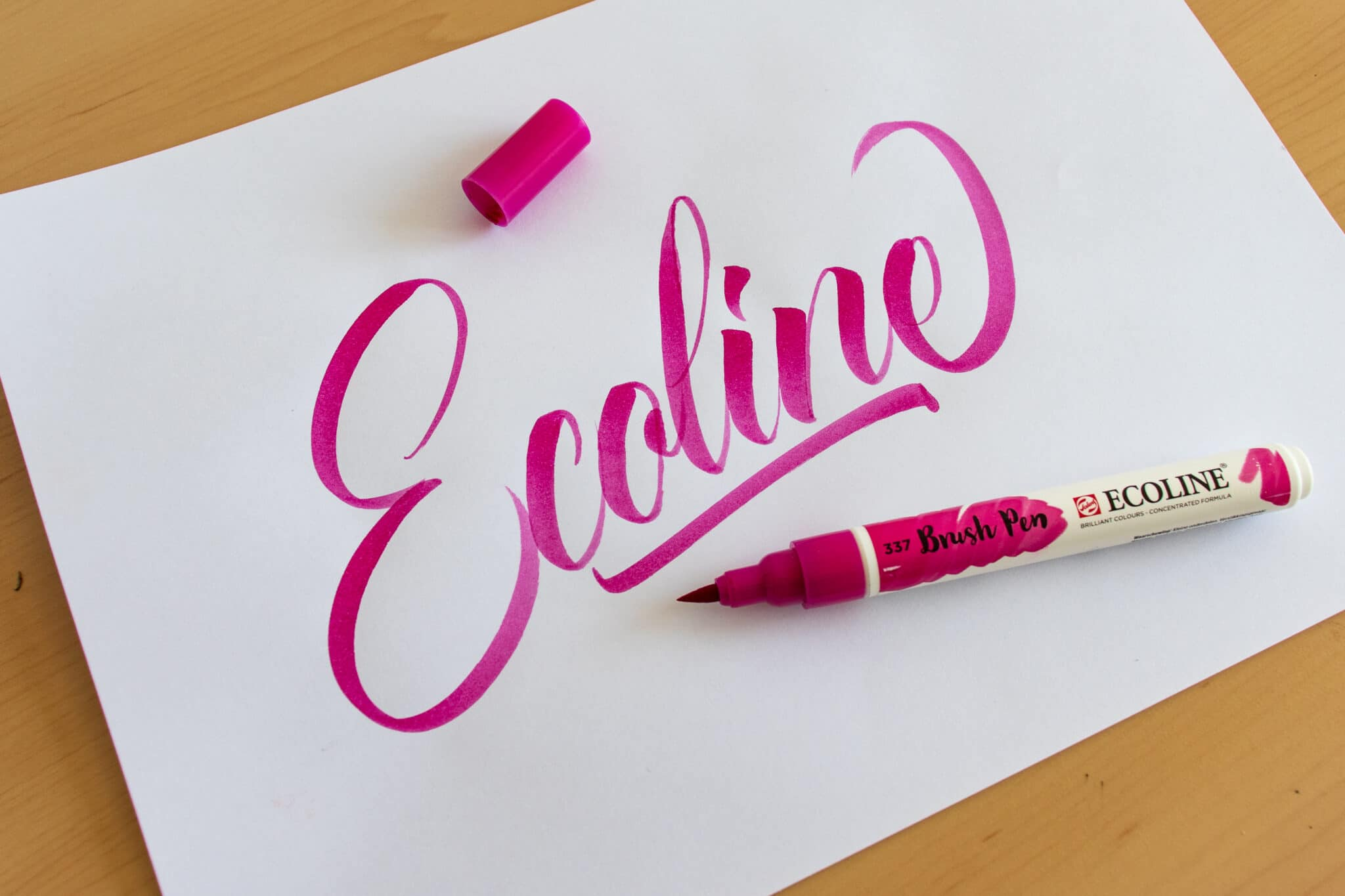 Ecoline Brush Pen - sample calligraphy
