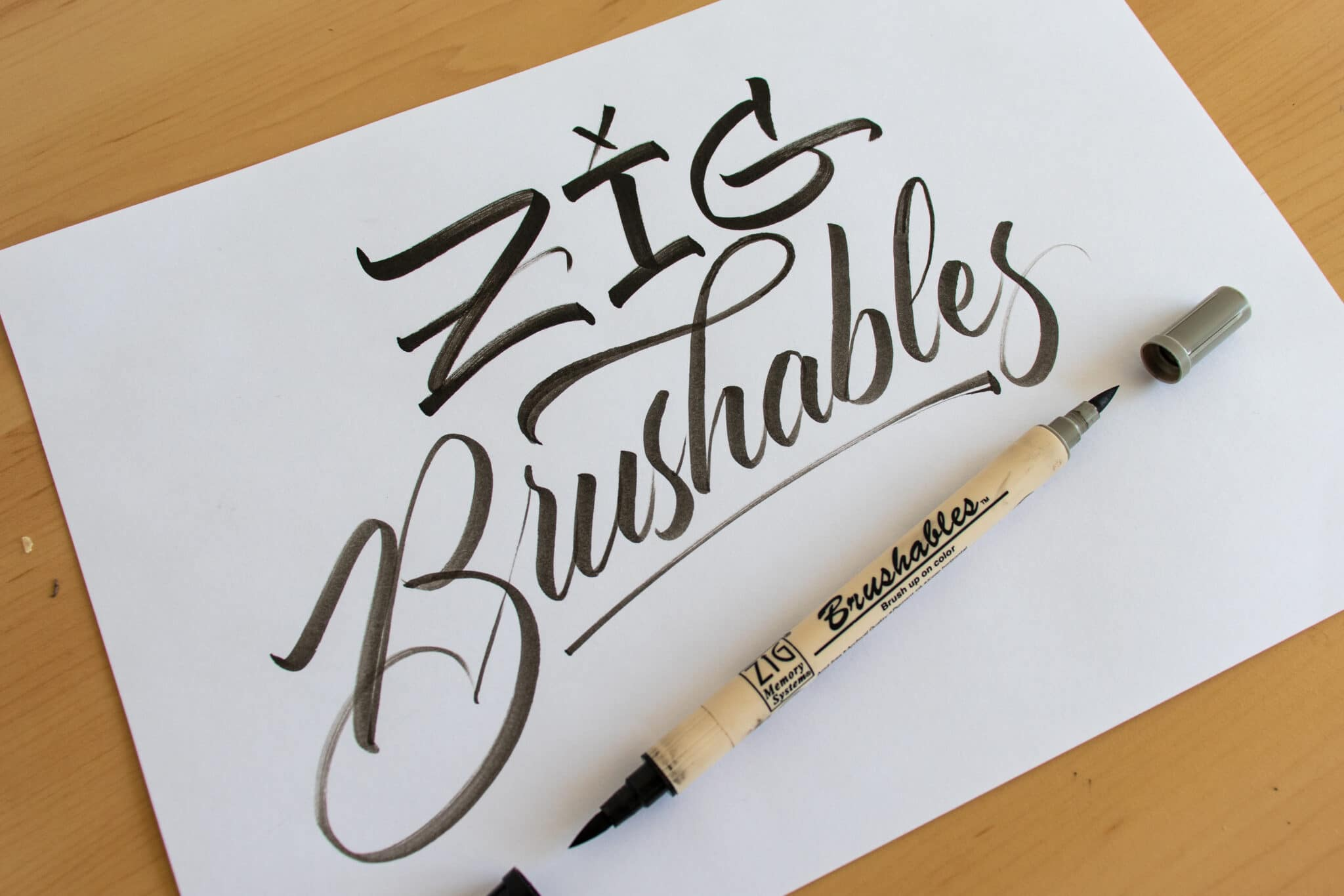 Zig Brushables - sample calligraphy