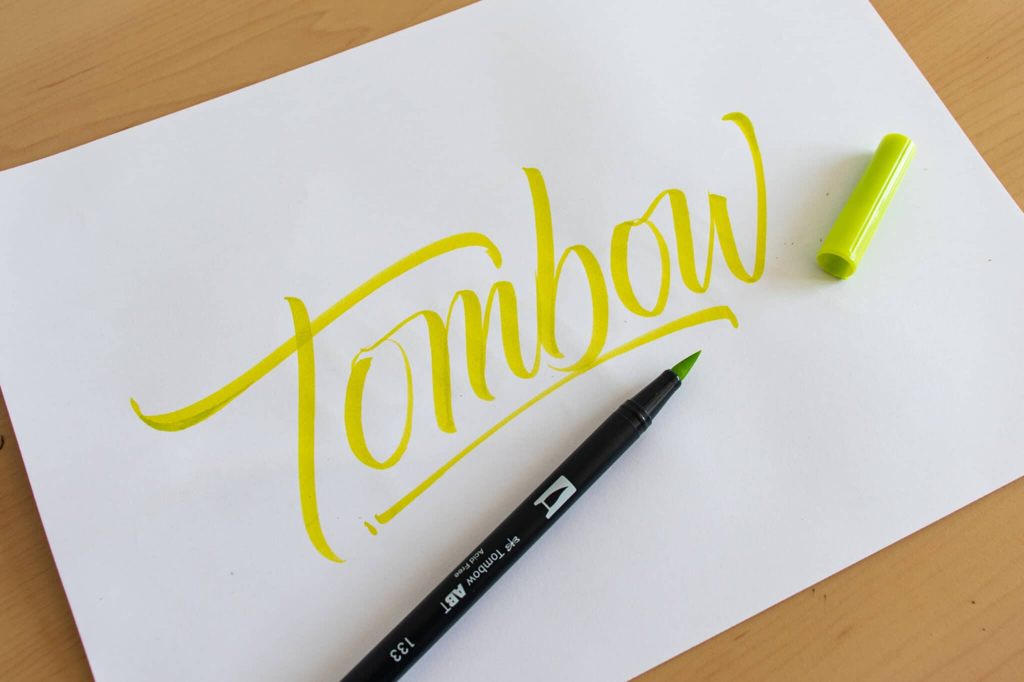 Tombow Dual Brush Pen - sample calligraphy
