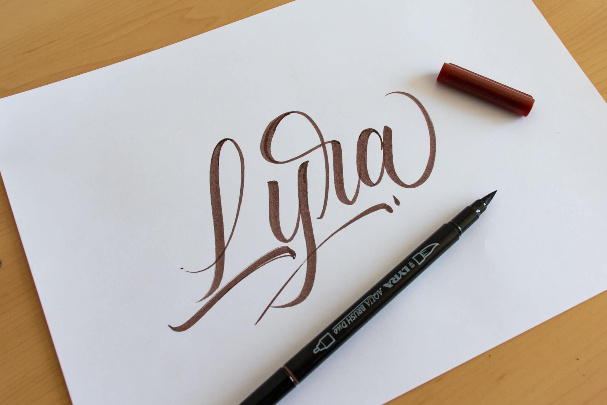 Lyra brush pen - sample calligraphy