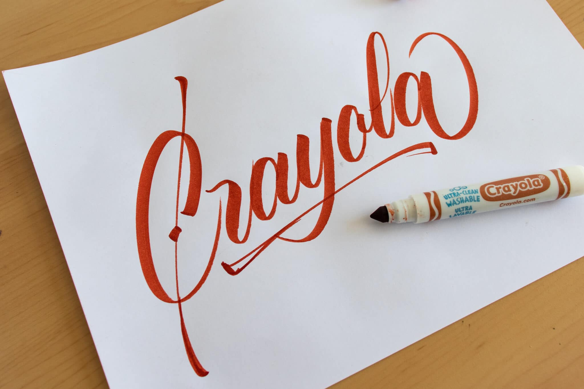 Crayola Marker - sample calligraphy