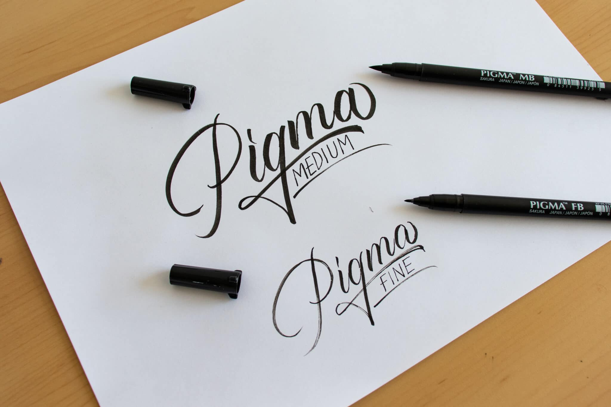 Pigma Sakura Professional brush pen - sample calligraphy
