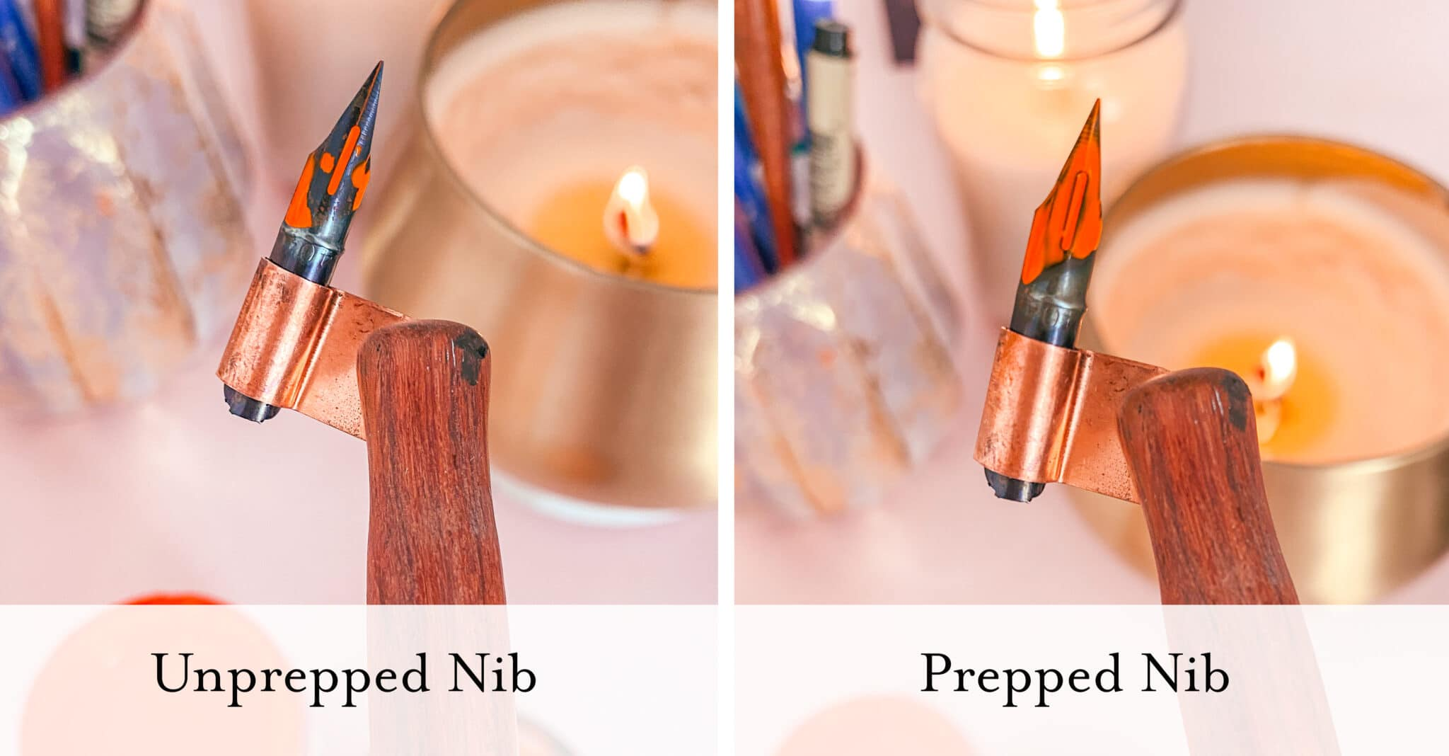 How to prepare your calligrapby nibs - Lettering Daily (4 of 9)