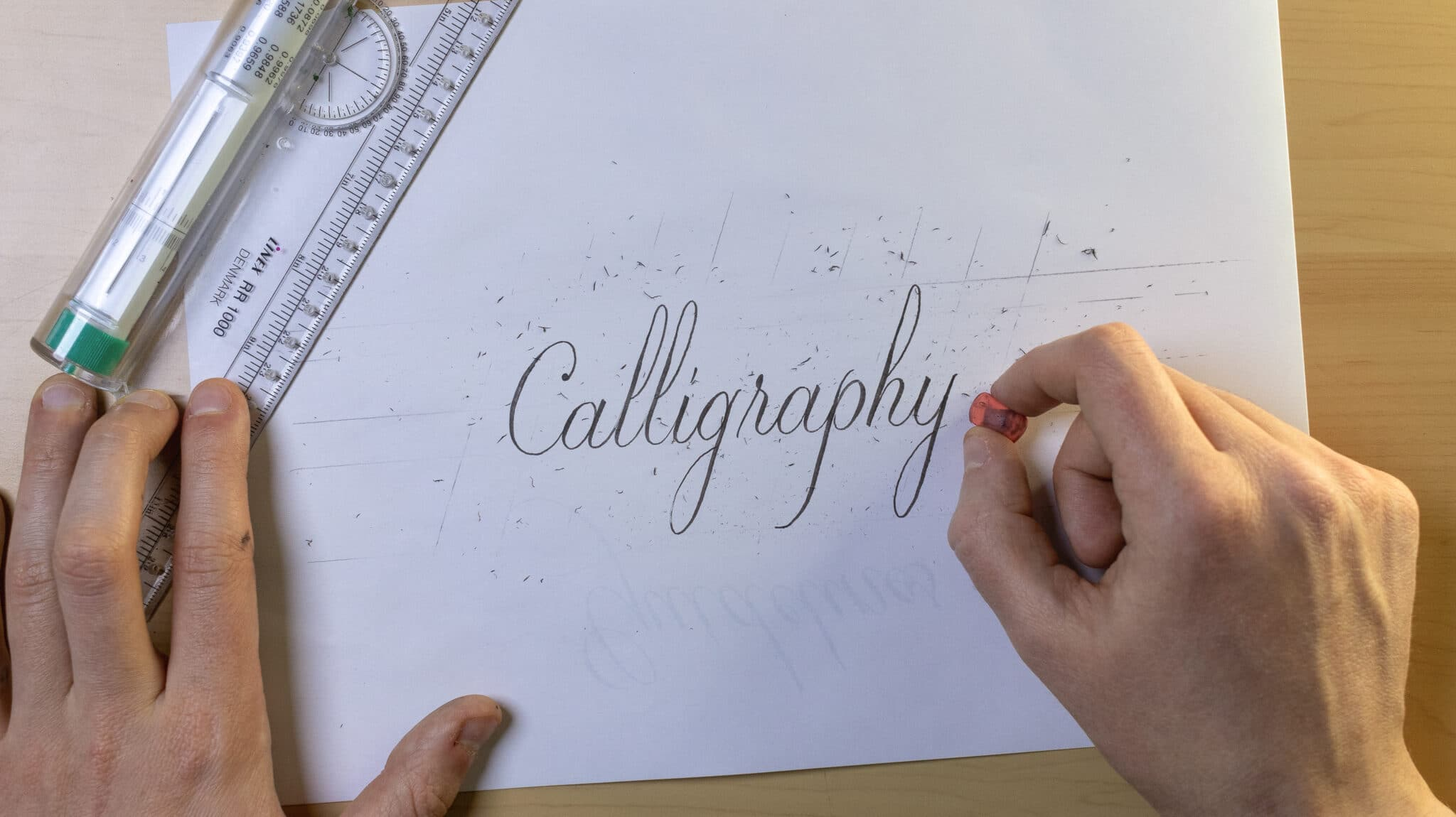 How To Make Calligraphy Guidelines Image 3 - Lettering Daily