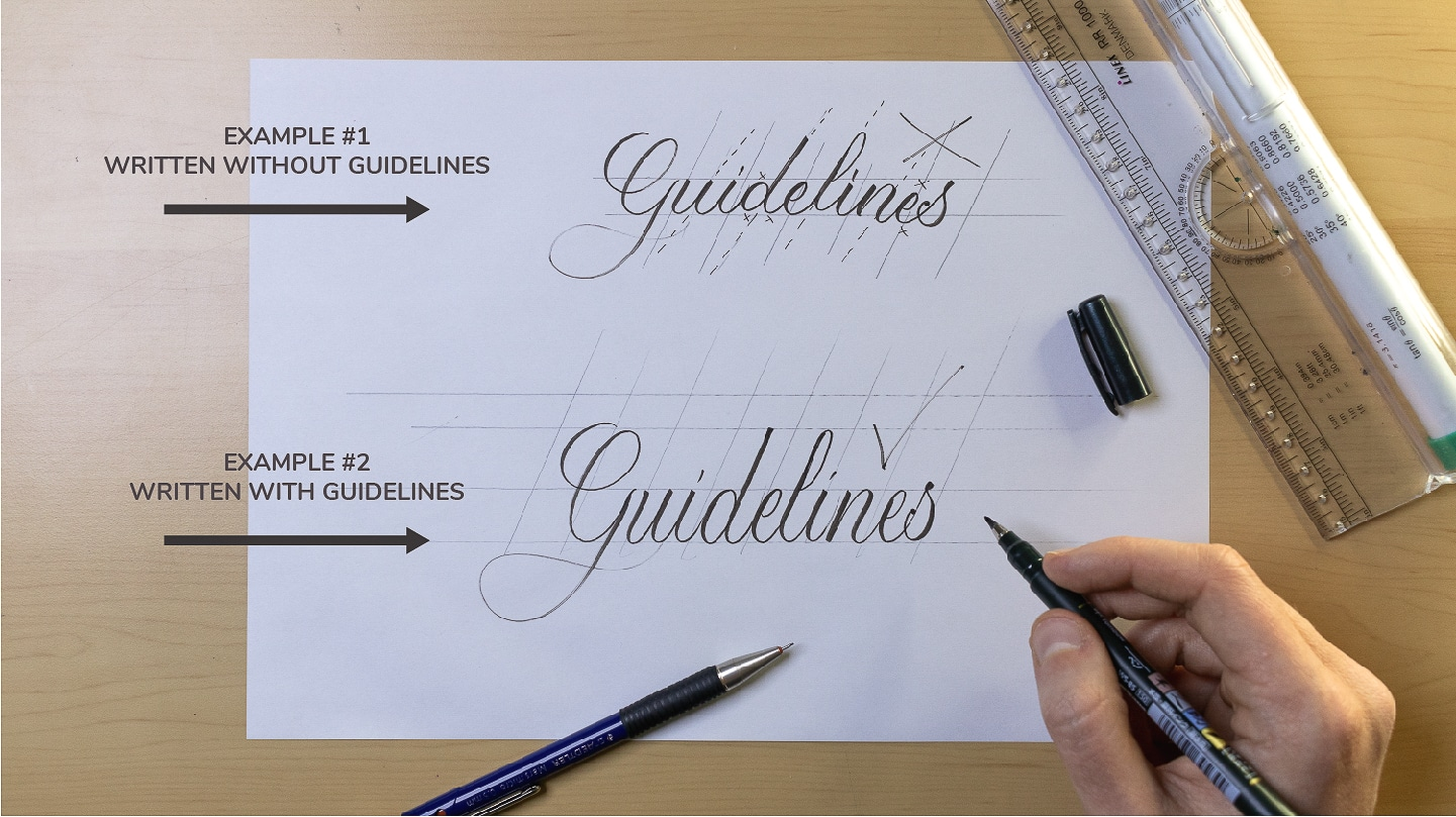 How To Make Calligraphy Guidelines Image 1 - Lettering Daily