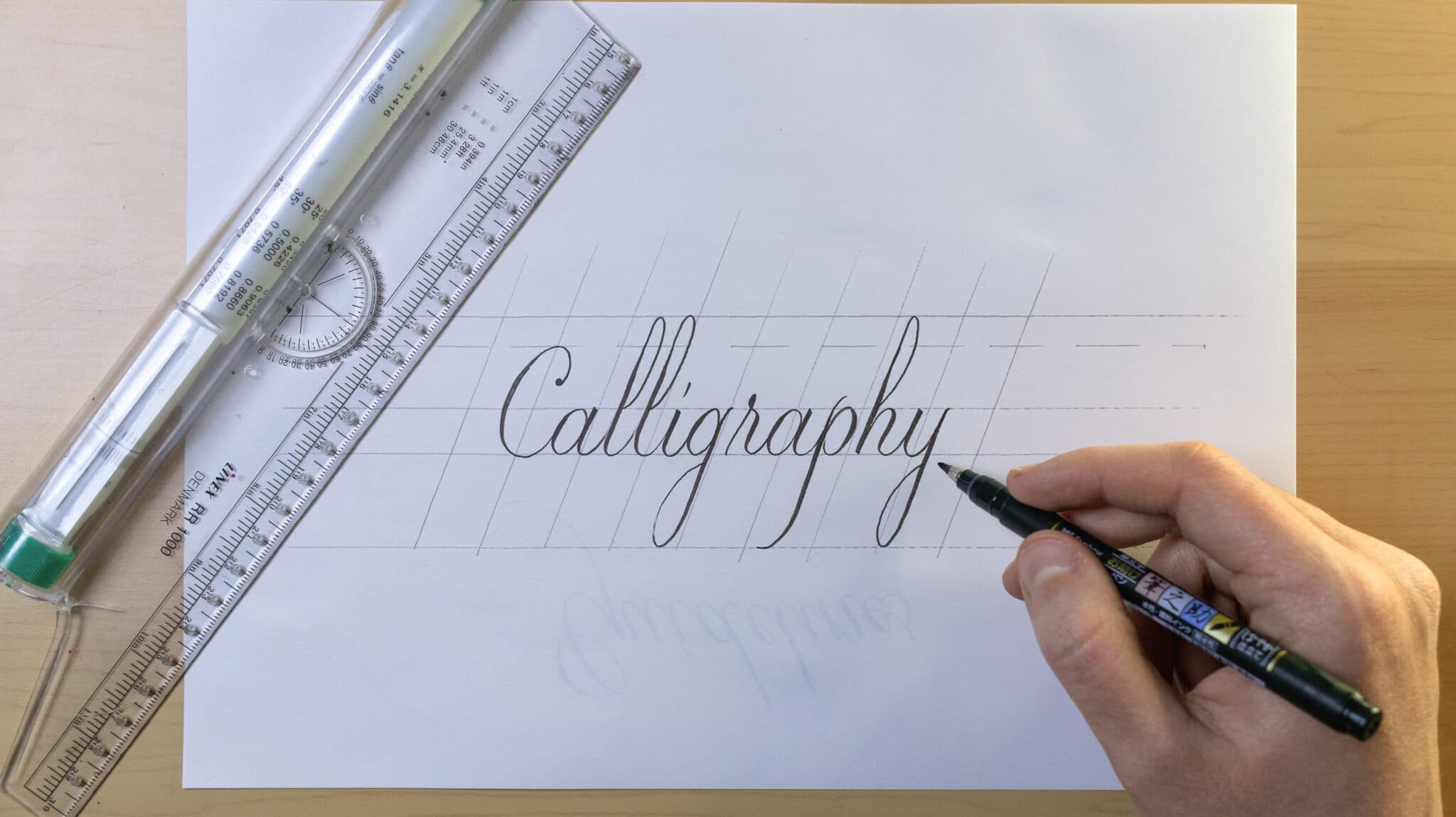 How To Make Calligraphy Guidelines Image 4 - Lettering Daily