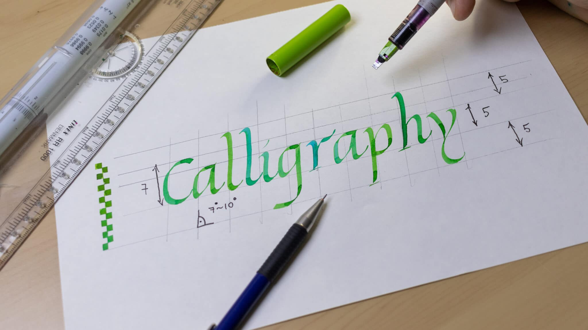 How To Make Calligraphy Guidelines Image 13 - Lettering Daily