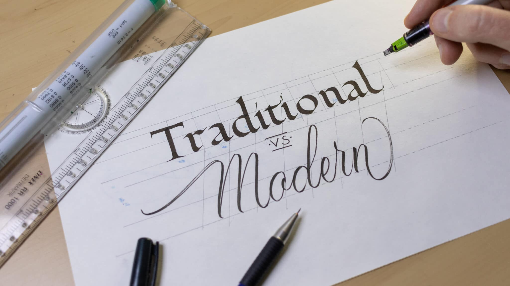 How To Make Calligraphy Guidelines Image 12 - Lettering Daily